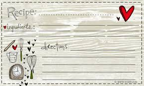 card recipe 25 free printable recipe cards home cooking memories