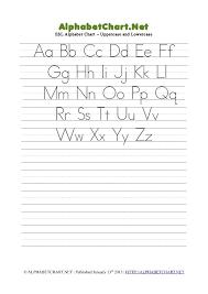 Esl Mixed Case Alphabet Pdf Chart Alphabet Chart Net
