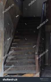 Old House Staircase Design Interior Design Stair Old House Construction Stock Photo