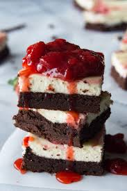 chocolate strawberry cheesecake. Fine Cheesecake Strawberry Cheesecake Brownies These Homemade Brownies Are Loaded Up With  A Layer Of Creamy Cheesecake On Chocolate