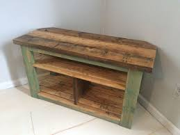 rustic corner tv stand throughout handmade table reclaimed and recycled wood prepare 10