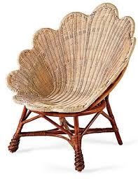 clam s wicker chair