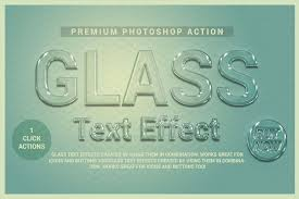 photoshop effects free glass text effect photoshop action free download adobe