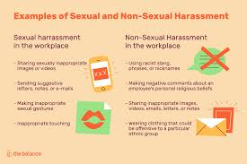 Examples of sexual harassment at work