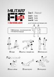 Military Workout Chart Army Training Army Training Workout Program