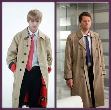 is taehyung planning on entering some supernatural cosplay with his castiel outfit
