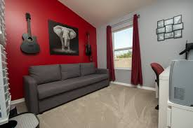 PVC Vinyl & Gray Carpet flooring in entertainment room