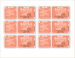Draw Ticket Template Raffle Ticket Templates For Word Word Document Templates