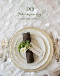 diy spring fl napkin ring
