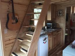 tiny house loft ladder. Ravenlore Tiny House Grand Tour Stairs Loft Green Cabins Ladder A
