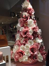 Paper Flower Christmas Tree Christmas Tree Made Of Paper Flowers In Pink And White Pink