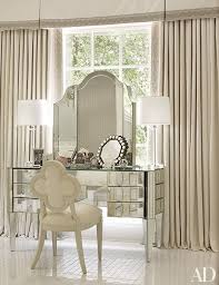 mirrored furniture decor. the mirrored dressing table by nancy corzine is a grace note in master bath of furniture decor t