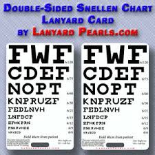 Details About Pocket Snellen Chart Doubled Sided Visual Acuity Chart Medical Nursing