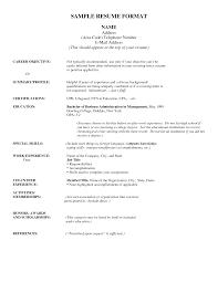 Address Format On Resume Address Format Resume Resume Samples 4