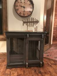 dog crates as furniture. Gray Stained, Single XL, Right Barn Door Dog Crates As Furniture