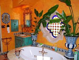 Mexican Bathroom mexican interior bathroom with ceramic urns and yellow walls 3944 by guidejewelry.us