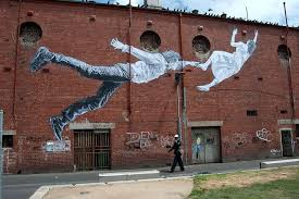 street art by baby guerrilla in footscray s madden square on wall art melbourne street with meet the women of australia s street art scene abc news