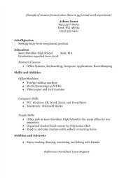Student Cv Template No Experience Student Resume Example No Experience Motivation Resume Resume