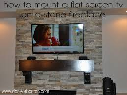 engaging how to hide tv wires over brick fireplace in can you install stone veneer over brick