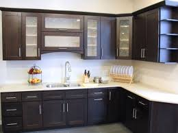 Modern Glass Kitchen Cabinets Kitchen Excellent Simple Kitchen Remodel Decorating Ideas Small