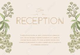 wedding reception card wedding reception card design with iris and lily of valley text