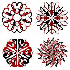 набор элементов круглые тату векторное изображение Lapotnik