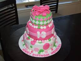pink cakes for girls 13th birthday. Contemporary 13th 13th Birthday Cake Inside Pink Cakes For Girls