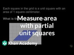 Measuring Area With Partial Unit Squares Video Khan Academy