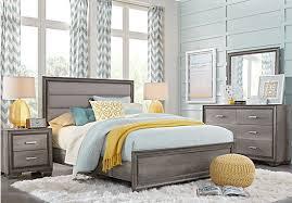 Marlow Gray 5 Pc King Panel Bedroom