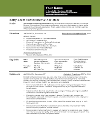 Sample Entry Level Administrative Assistant Resume Objective
