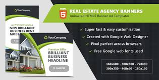 Real Estate Ad Real Estate Agency Banners Html5 Ad Templates