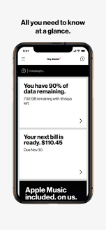 my verizon on the app store screenshots
