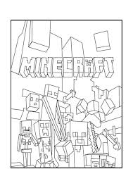 A Minecraft Mobs Coloring Page More Minecraft Coloring Pages