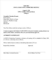 Conference Call Meeting Minutes Template Committee Minutes Template 9 Free Word Pdf Documents Download