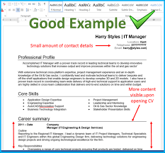 Successful Cv Layout How To Layout The Top Of Your Cv Totaljobs
