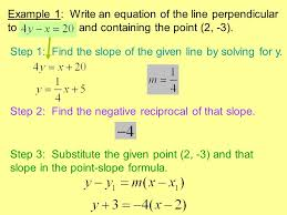 8 determine whether the graphs of each pair of equations are perpendicular no