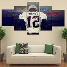 5 Panel Stuk Hd Print Tom Brady Sport Star Moderne Muur Posters