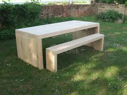 solid end garden table benches rustic oak furniture giardino rustic outdoor bench