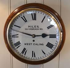 oak fusee dial wall clock