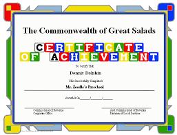 free preschool certificates certificate of achievement preschool printable certificate
