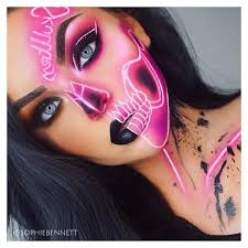 n e o s k u l skulltress is a recreation creative look for throughout cool makeup ideas 4