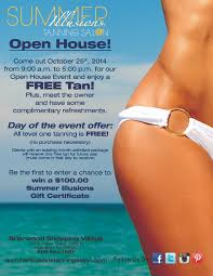 summer illusions tanning salon come in saturday th open house for internet post
