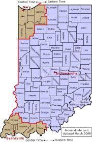 Indiana Is In The Eastern Time Zone Except For The 6 Counties Near