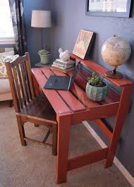 pallet furniture desk. I Made A Desk Out Of Two Pallets In One Afternoon. Pallet Furniture