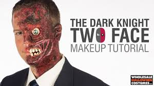two face from the dark knight makeup tutorial whole costumes