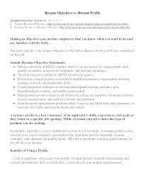 Career Objective Examples For Resume For Experienced Cool Image