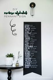 DIY Modern Alphabet Wall Art Pennant Tutorial | This military-inspired  modern alphabet art is