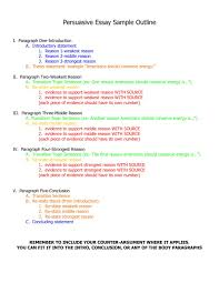How To Create An Outline For Argumentative Paper With Sample