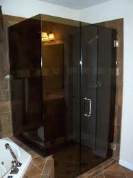 smoked glass shower doors bronze brushed nickel enclosure by lemon bay glass mirror frosted glass shower screen uk