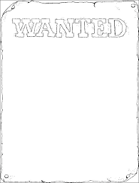 Book Report Poster Template Wanted Poster Printable Fun Wanted Poster Book Report